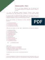 Características y Atributos de Dios