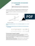 3.1.DEFINICIÓN Y CLASIFICACIÓN  DE ECUACIONES LINEALES