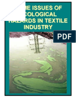 Some Issues of Ecological Hazards in Textile Industry