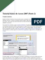 Tutorial básico de Access 2007 (Parte 2)