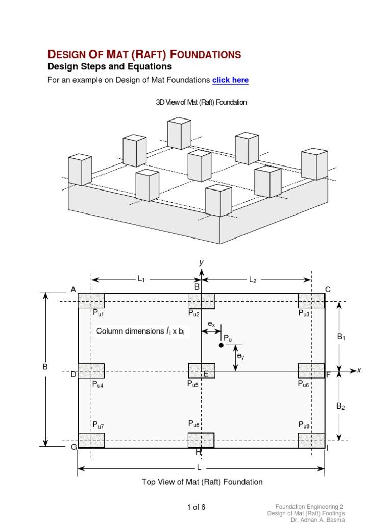 Raft Foundation Design Example Download