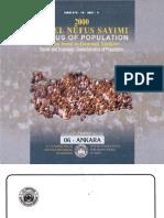 2000 Genel Nüfus Sayımı (Census of Population) - TÜİK