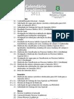 Calendario da UeVA 2011-1