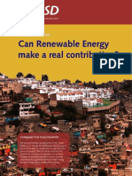 Can Renewable Energy Make a Real Contribution