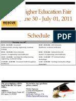 IRC Higher Education Fair Schedule June 2011