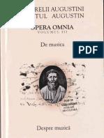 Sfantul Augustin III. Despre Muzica