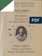 Sfantul Augustin VI. Despre Magistru. Despre Viata Fericita. Despre Nemurirea Sufletului