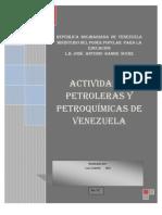 Activiades Petroleras y Petroquimicas de Venezuela