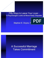 Fifty Ways to Leave Your Lover