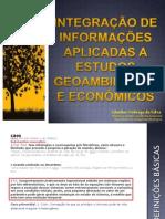 Integração de informações aplicada a estudos geoambientais e econômicos