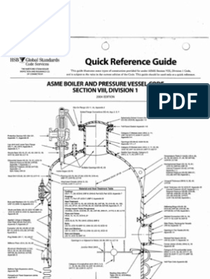 Quick Reference Guide ASME Section VIII Div  1