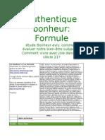 Authentique bonheur Formule.doc