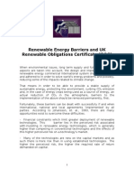 Renewable Energy Barriers and UK Renewable Obligations Certificat ROC