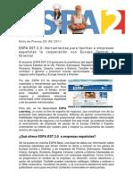Espa Est 2.0 Press Release ES