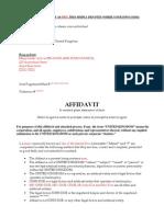 PCN Affidavit