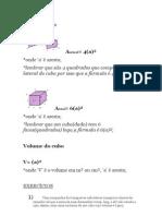 Volume  e  Área do Cubo