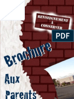 Brochure Aux Parents