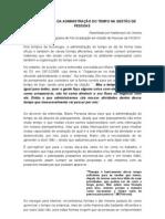 A IMPORTÂNCIA DA ADMINISTRAÇÃO DO TEMPO NA GESTÃO DE PESSOAS