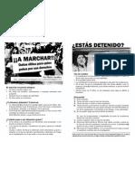 Recomendaciones Detenciones en Marchas