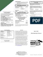 Bulletin - 20110703 Comm