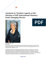 Statement by Christine Lagarde on Her Selection as IMF (International Monetary Fund) Managing Director (with BIO)