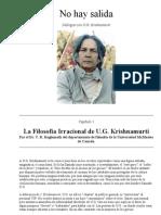Krishnamurti U.g_no Hay Salida-Cap.1