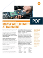 MC75A Biometric Spec Sheet