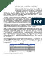 INFORME SEMANAL VARIACIONES DE PRECIOS DE COMBUSTIBLES