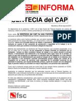 ....Informa Sentencia CAP