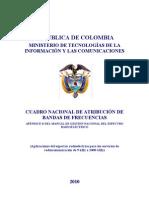 CUADRO NACIONAL DE ATRIBUCIÓN DE BANDAS DE FRECUENCIAS 2010
