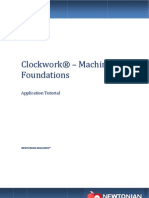 Clockwork - Machine Foundation Software - User Manual