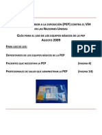 Anexo 1 - PEP Starter Kit Guidance for Custodian Patient and Health Care Provider - Spanish - 17 Aug 09