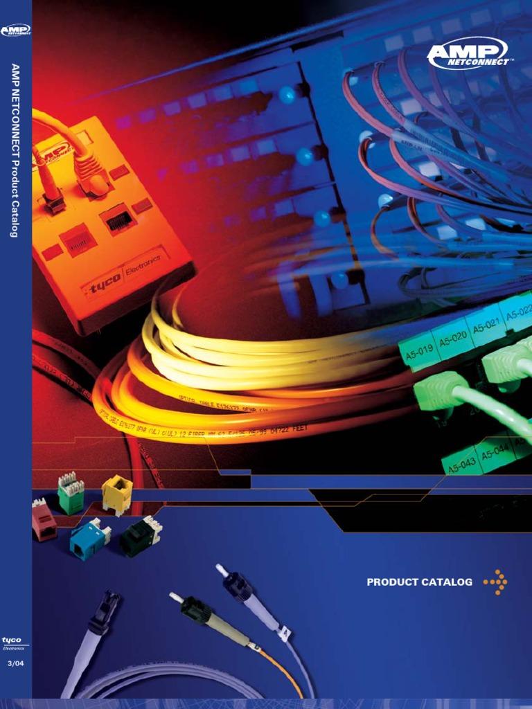 Amp Net Connect Catalog Full Optical Fiber Telecommunications 73 Cat6 Patch Panel 110 Type 24 Port 568a B Compatible Equipment