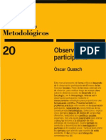 Cis, Cuadernos Metodologicos Observacion Participante