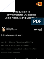 Introduction to asynchronous DB access using Node.js and MongoDB