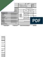Formato de Evaluaciones Diarias, Mensuales