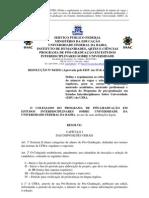 UFBA - EISU_Resolução 004-2011 _ Regulação do Processo Seletivo