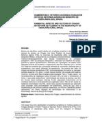 ASPECTOS SOCIOAMBIENTAIS E VETORES DA DOENÇA CHAGAS EM ASSENTAMENTOS DE REFORMA AGRÁRIA NO MUNICÍPIO DE UBERLÂNDIA MG BRASIL