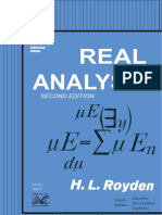 Royden 1968 Real Analysis Book