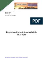 Regard sur l'agir de la société civile en Afrique - Teddy Marques