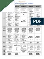 2011 2012er schedule