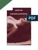 Anaïs Nin - Corazón cuarteado
