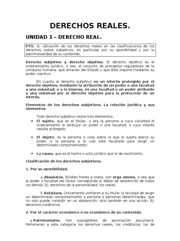 Derechos Reales Resumen Doc 67026