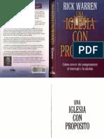 Rick Warren Una Iglesia Con Proposito Libro Entero x Eltropical