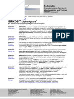 Birkosit Product-Safety Data Sheets, May 2011 Version