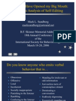 Skinners Analysis of Self-editing 2006