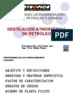 DESTILACIÓN ATMOSFÉRICA DE PETRÓLEO