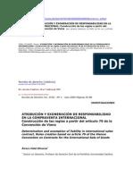 ATRIBUCIÓN Y EXONERACIÓN DE RESPONSABILIDAD EN LA COMPRAVENTA INTERNACIONAL