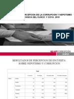 Presentación de Resultados de la Encuesta sobre Percepción de la Corrupción y Nepotismo en la Provincia del Cusco y Coya 2010
