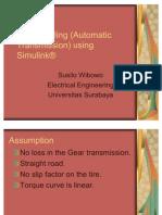 Car Modeling Simulink